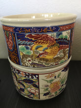 Load image into Gallery viewer, Vintage Bohemian Mug Set With Lotus And Asian Design c1970s From Japan