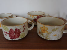 Load image into Gallery viewer, Vintage Bohemian Latte Soup Bowl Mug Set With Hand Painted Designs