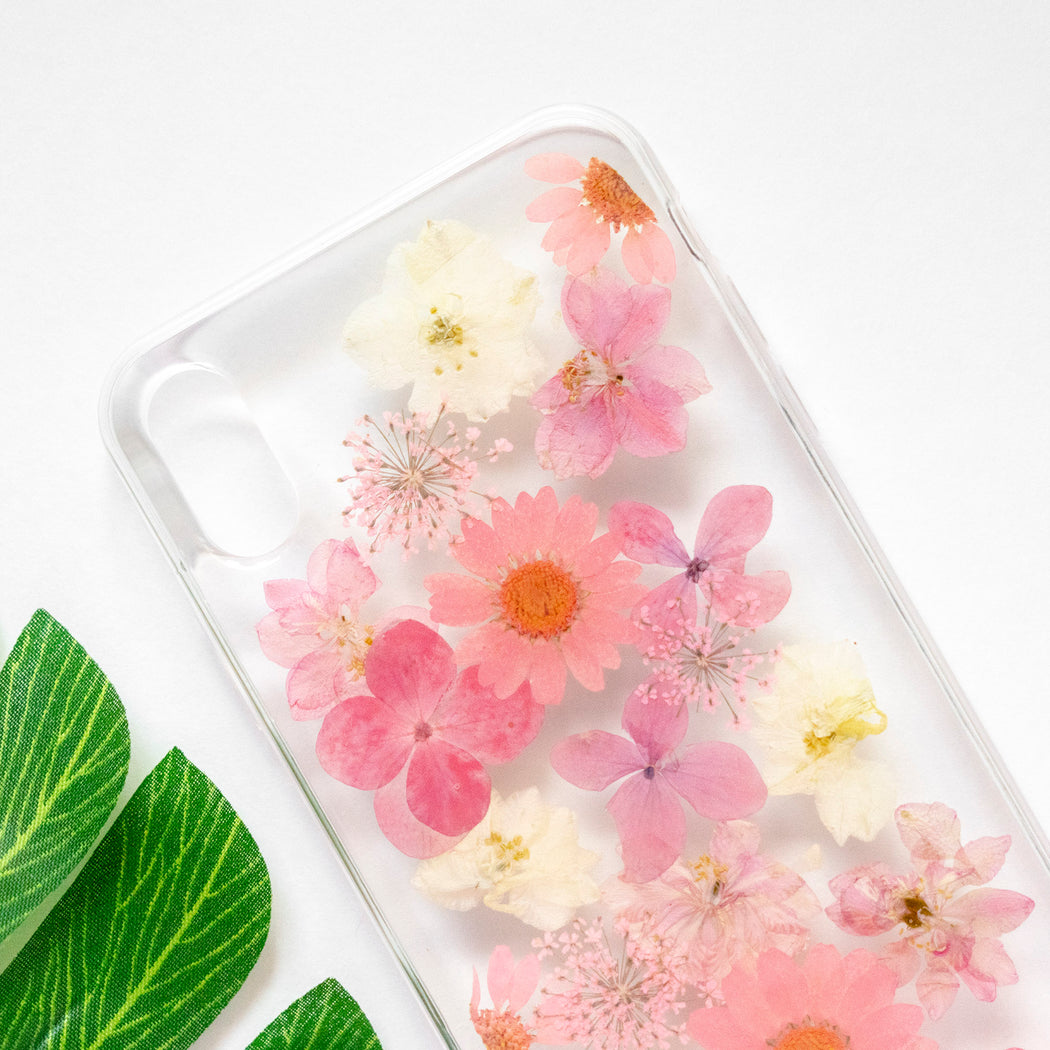 Linnea | Pressed Flower iPhone Soft TPU Bumper Case