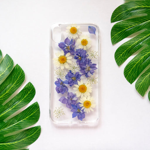 Pressed Purple Flower iPhone Soft TPU Bumper Case Floral Neverland Floralfy 01
