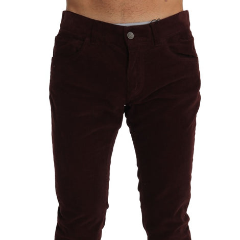 Dolce & Gabbana Corduroys Classic Brown Stretch Pants Jeans