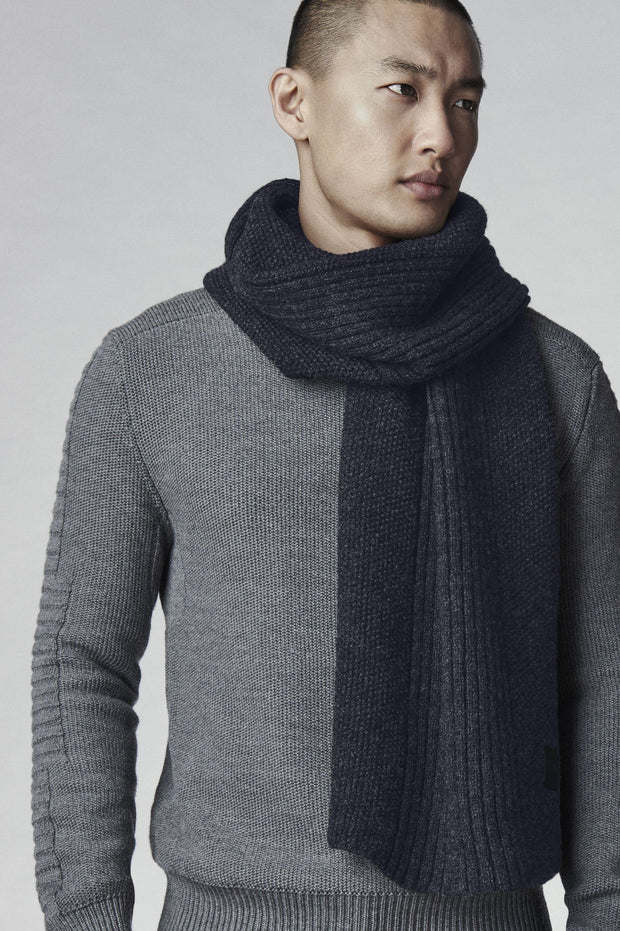 Canada Goose-Mens Textured Knit Scarf - buy online with www.tehuianz.com