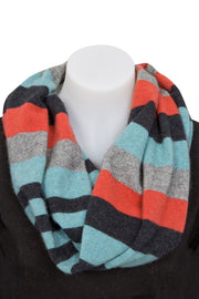 Native World-Unisex 4-Tone Block Colour Loop Scarf - buy online with www.tehuianz.com