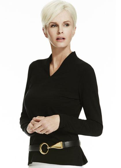 Paula Ryan-Womens Merino Easy Fit Long Sleeve High Neck V - buy online with www.tehuianz.com