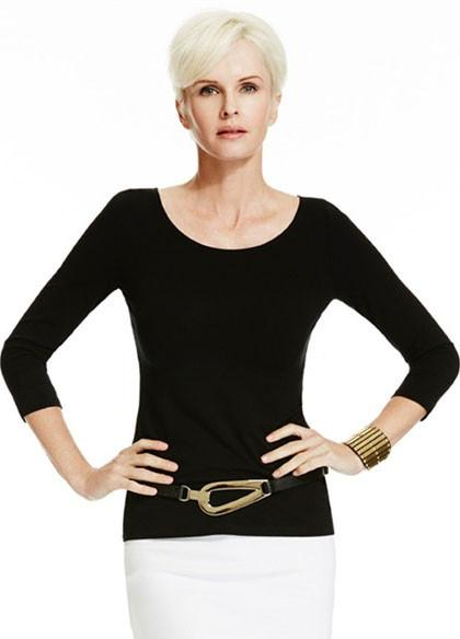 Paula Ryan-Womens MicroModal Slim Fit 3/4 Sleeve Wide Neck Scoop - buy online with www.tehuianz.com
