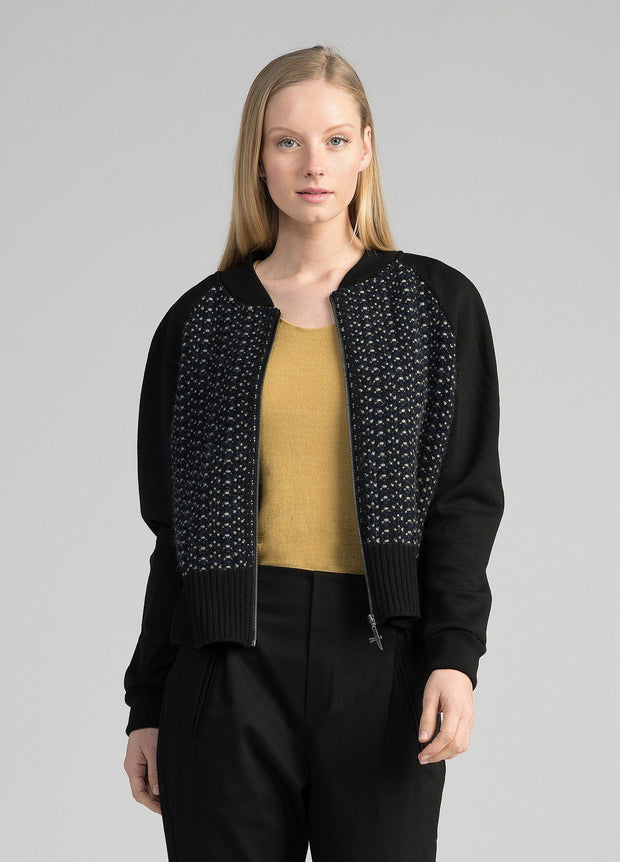 Untouched World-Womens Wave Knit Bomber Jacket - buy online with www.tehuianz.com