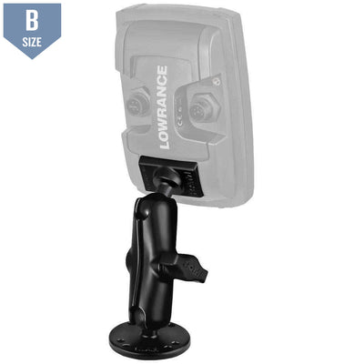 RAM Mount for Lowrance Elite-4 & Mark-4 Fishfinders (RAM-B-101-LO11)-Modest Mounts
