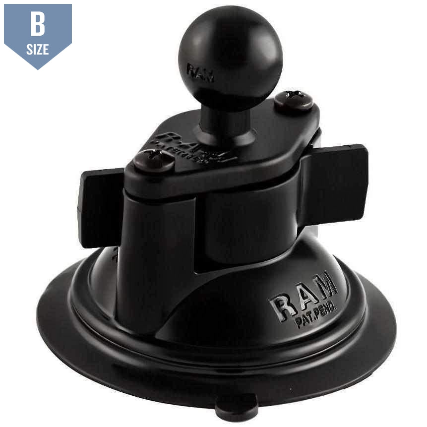 "RAM Suction Cup Base w 1"" Ball (RAM-B-224-1U)-Modest Mounts"