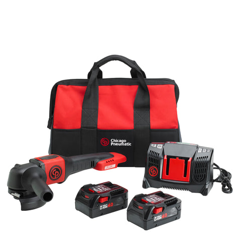 Cordless Grinder CP8350 in a tool bag incl. 2 x 20V batteries and charger