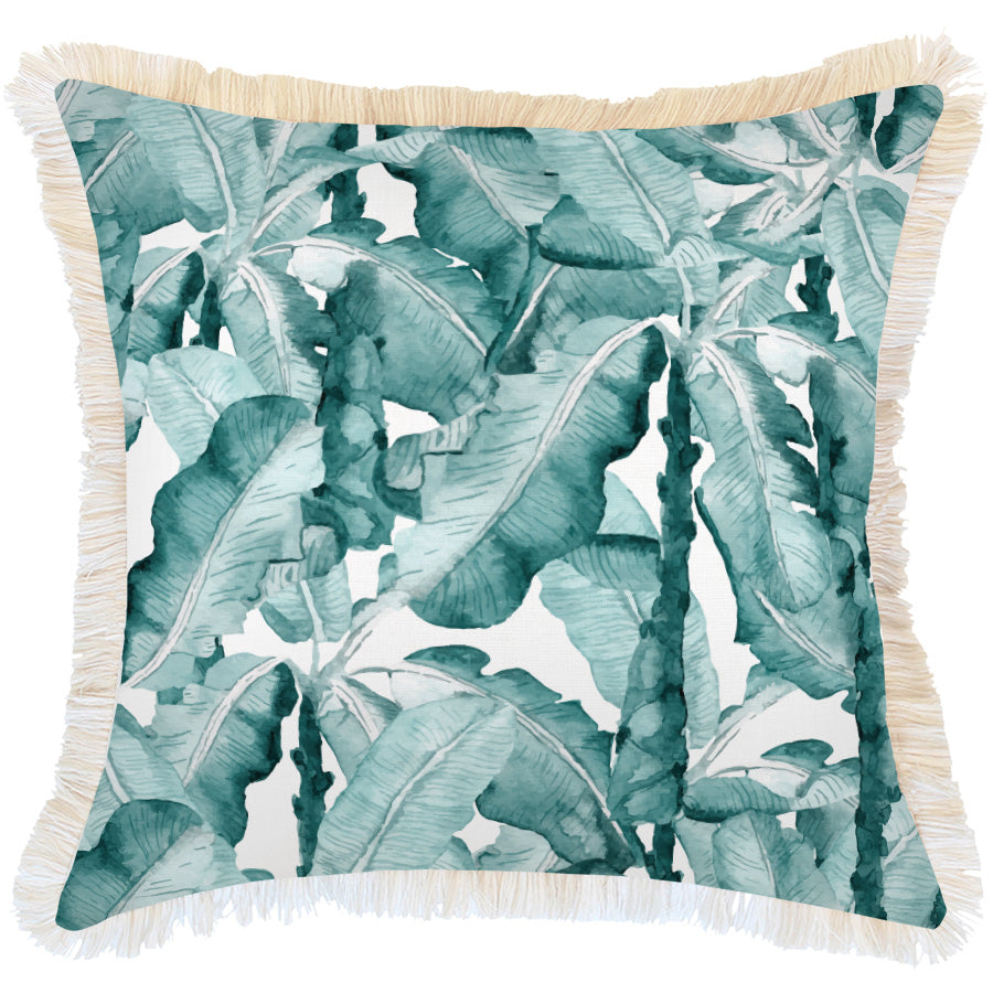 Cushion Cover-Coastal Fringe Natural-Bora Bora-60cm x 60cm