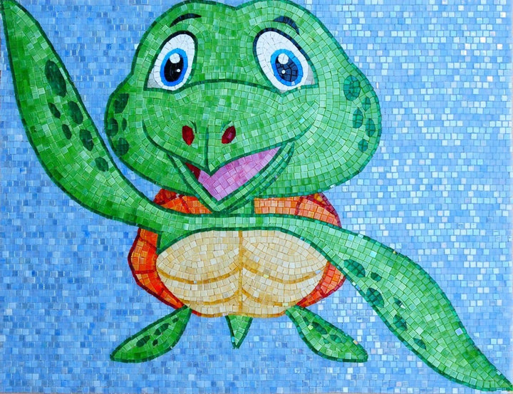 Trippy the Turtle - Comic Mosaic