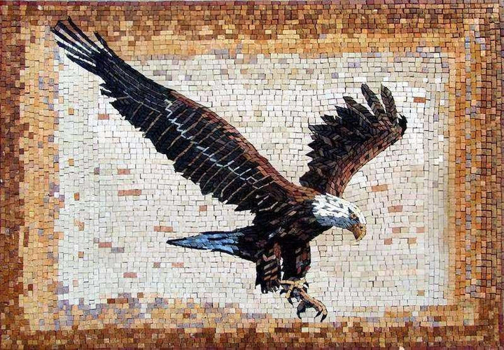 Marble Mosaic Art -Eagle