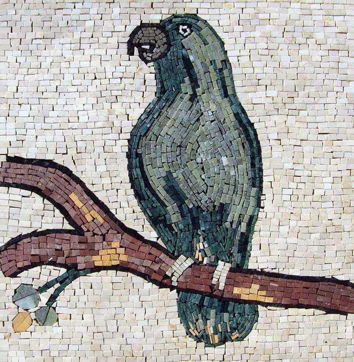 Mosaic Tile Pattern - Green Parrot
