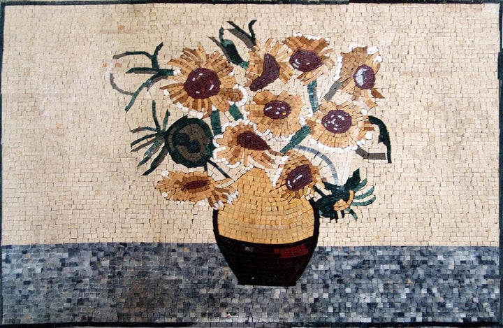 "Vincent Van Gogh Tournesols"" - Mosaic Reproduction"""