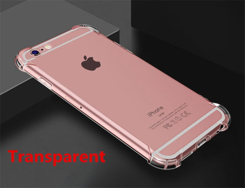 Super Shockproof Clear Soft Case for iPhone 5 5S SE 6 7 8 Plus 6SPlus 7Plus 8Plus X S R MAX Silicon Luxury Cell Phone Back Cover