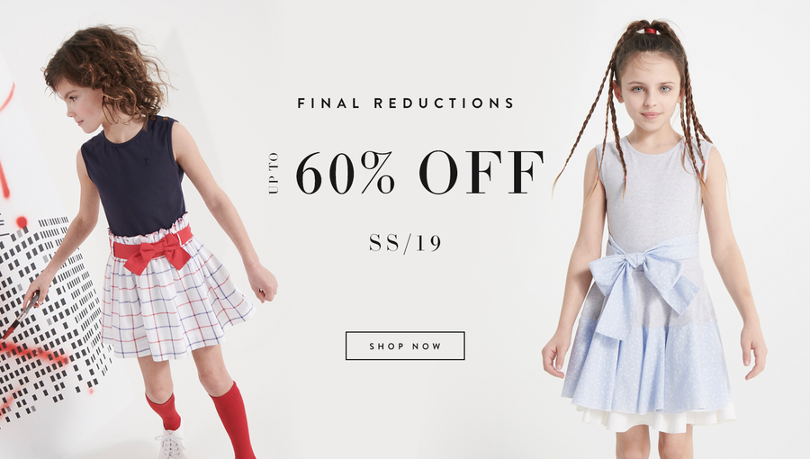 Two girls wearing designer dresses - 60% off sale