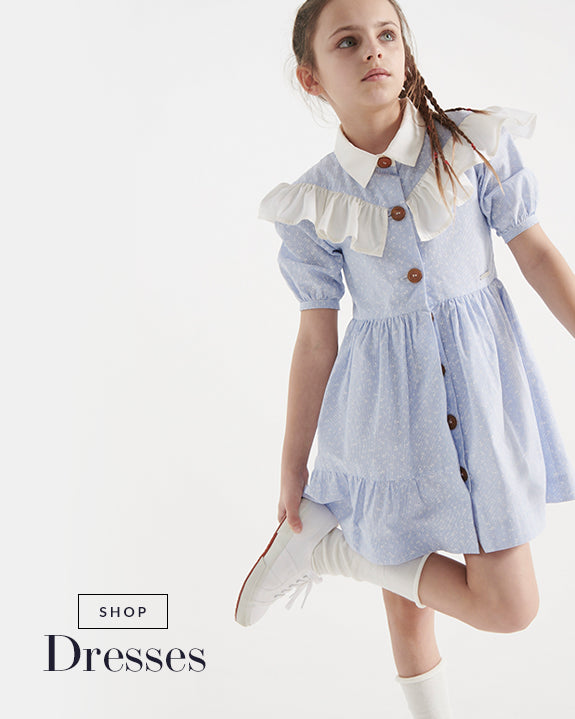 Powder blue girls designer dress