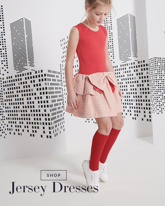 Red designer girls dress