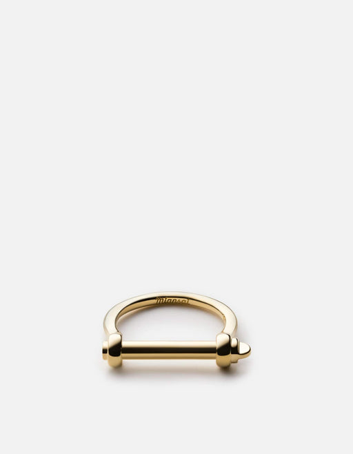 Thin Screw Cuff Ring, Gold | Women's Rings | Miansai