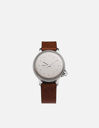 Miansai - M12 Swiss Silver Vintage Cognac Leather