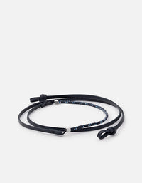 Nexus Leather Sunglass Cord, Sterling Silver | Dry Goods | Miansai