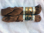 King Tut Luxury Cotton Yarn color Chocolate Two 100 gm 182 yard skeins
