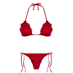 RED SUNSHINE BIKINI TOP
