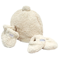 JJ Cole Collections Bundleme Hat, Mittens & Booties 0-6 Months