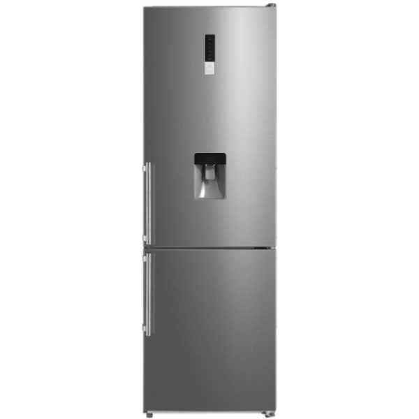 295L Top Fridge Bottom Freezer - Water Dispenser - Stainless Steel