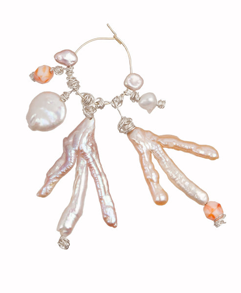 I'm A Slave For You Pearl Single Earring - Wald Berlin - Fairtrade Jewellery made in Berlin - Studio B Fashion