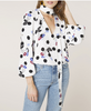 Rixo London - Moss Bunched Daisy Polka Dot Blouse - Studio B Fashion