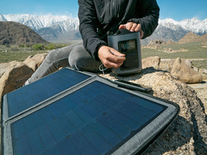 Get off the grid and stay off the grid with your 85W Solar Panel Charger. Made up of the efficient Monocrystalline silicon cells available, recharge RIVER and your electronic devices, and keep your equipment running off of your portable power station.