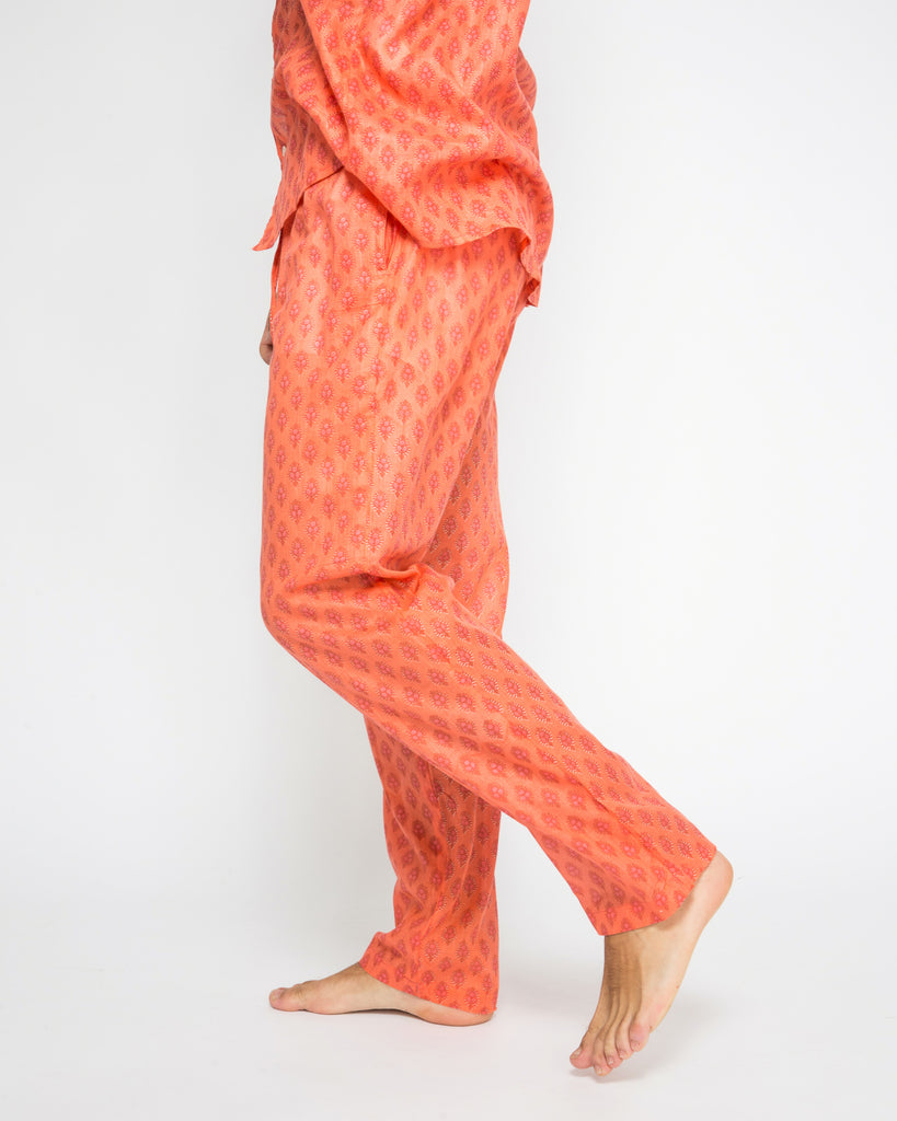 TIWI COTTON PANTS IN ORANGE
