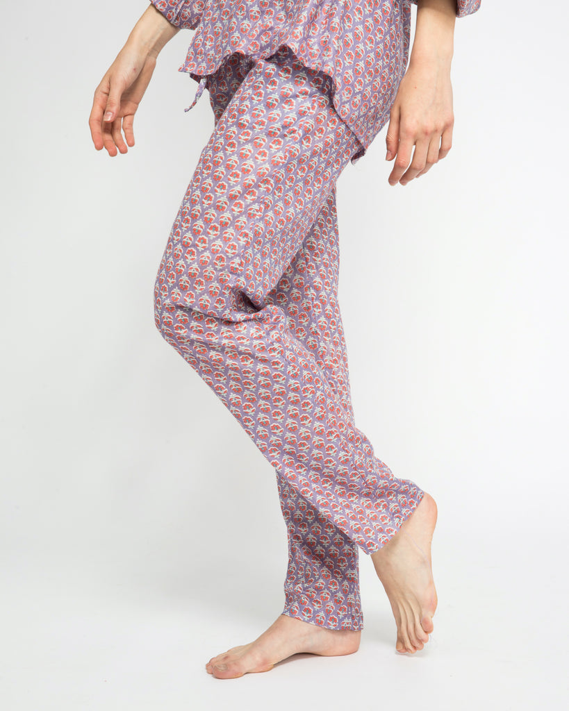 SHABA COTTON PANTS IN PURPLE