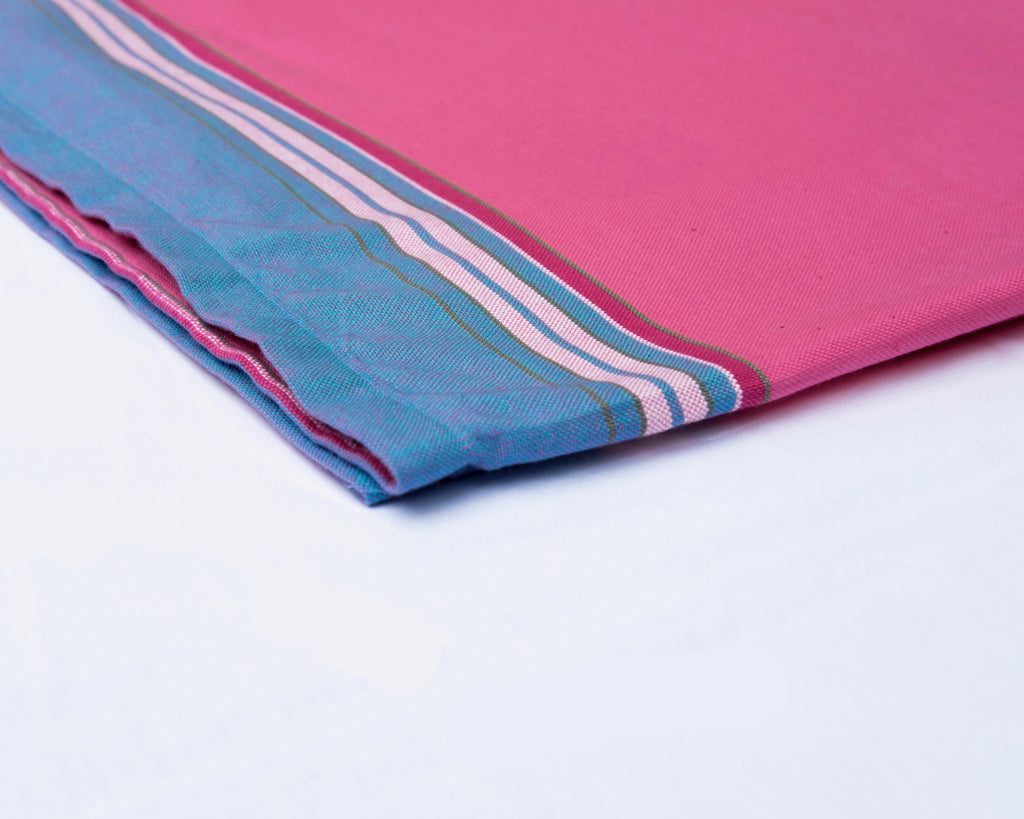 KIKOY TOWEL IN PINK & BLUE