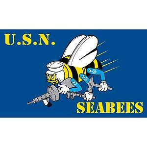 3'x5' Navy Seabees Polyester Flag