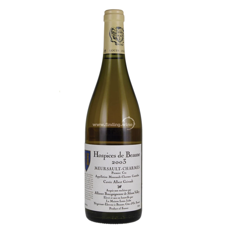Hospices de Beaune _ 2003 - Meursault-Charmes Cuvee Albert Grivault elevage Louis Jadot _ 750 ml. - White - www.finding.wine - Hospices de