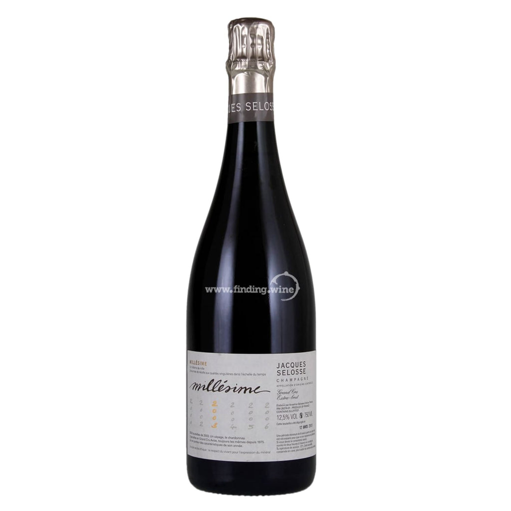 Jacques Selosse _ 2003 - Grand Cru Extra Brut _ 750 ml. - Sparkling - www.finding.wine - Jacques Selosse