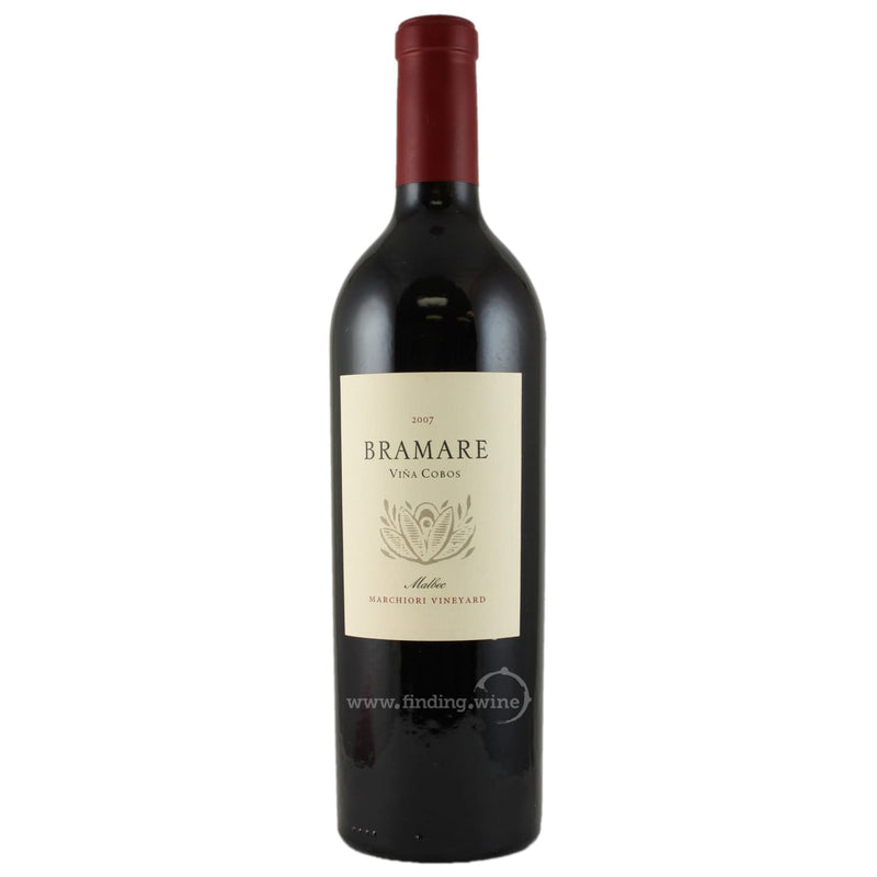 Vina Cobos _ 2007 - Bramare Malbec Marchiori Vineyard _ 750 ml. - Red - www.finding.wine - Vina Cobos