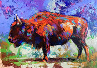 Buffalo in Abstract original painting by Robert Hurst