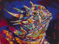 Horned Frog Y'all limited edition canvas giclee print featuring a horned frog