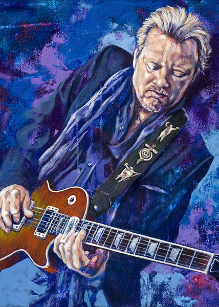 Lee Roy Parnell autographed limited edition fine art print