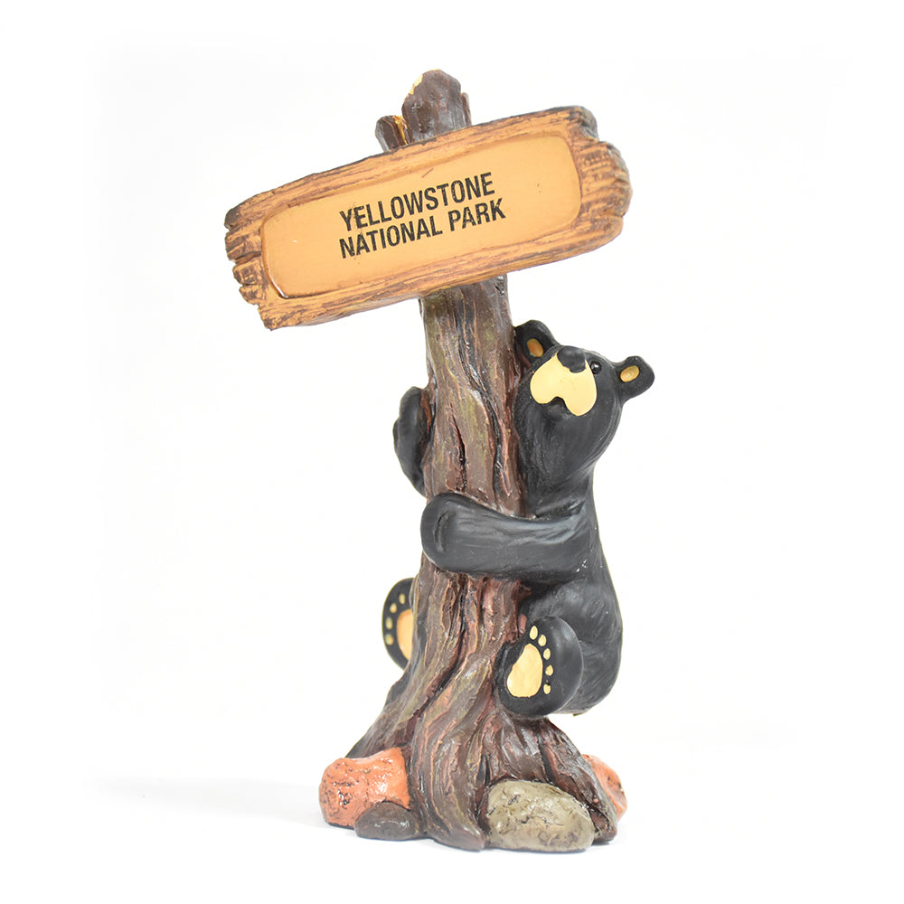 Bearfoots Yellowstone National Park Bear Hug Figurine by Jeff Fleming and Big Sky Carvers at Montana Gift Corral