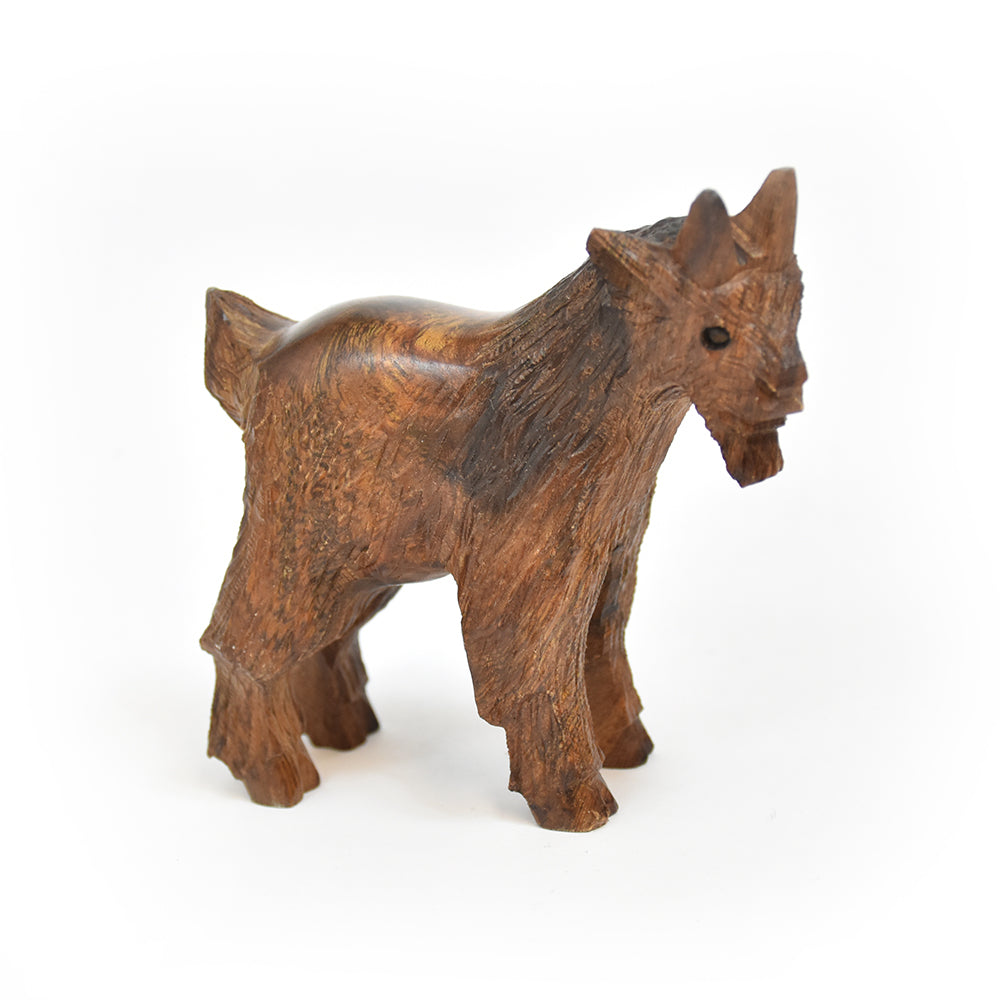 Extra-Small Mountain Goat Ironwood Figurine by EarthView Inc.