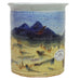 Sky Blue Utensil Holder by Fire Hole Pottery