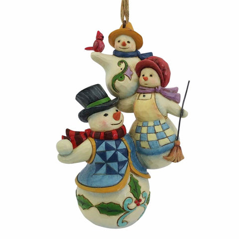 Heartwood Creek Stacked Snowmen Ornament by Jim Shore