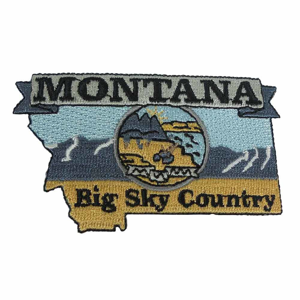 Montana-Shaped Multicolored Patch