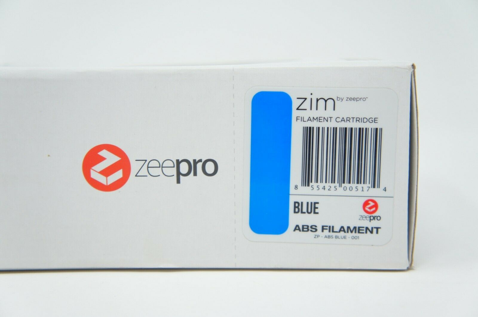 Zeepro ABS Plastic Filament Cartridge, 1.75mm Diameter, 250g Blue (2 Pack)