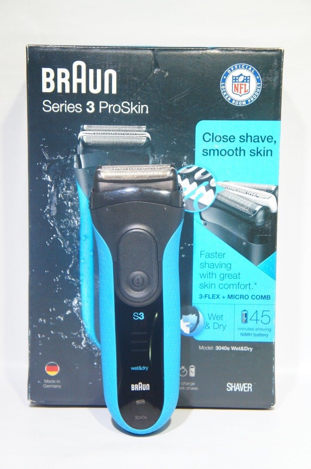 Braun Electric Shaver Series 3 ProSkin 3040s Men's Electric Razor (Like New)