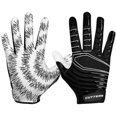 Cutters S252 REV 3.0 Receiver Gloves C-Tack Football Lightweight Pair Black
